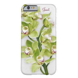 Green Cymbidium Orchid Floral iPhone 6 case Barely There iPhone 6 Case