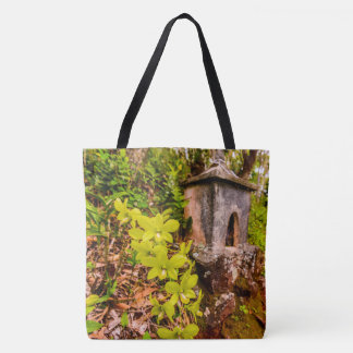 Green Cymbidium Orchids, Kauai, Hawaiian Beach Bag