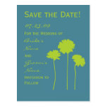 Green Daisy Save the Date Postcard