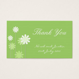 Green Daisy Wedding Thank You Card