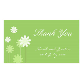 Green Daisy Wedding Thank You Card Business Cards
