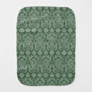 Green Damask Burp Cloth