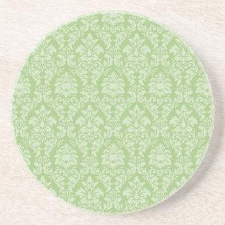 Green Damask Coaster