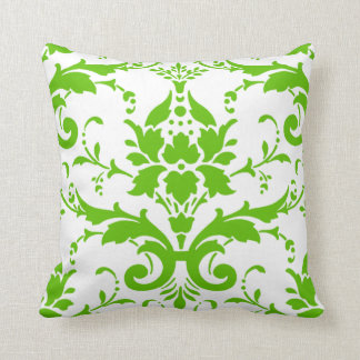 Green Damask Design Pillow