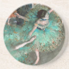 Green Dancer (Danseuse Verte) Edgar Degas Coaster