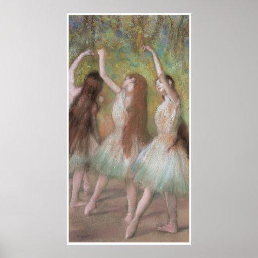 Green Dancers, c. 1885, Edgar Degas Poster