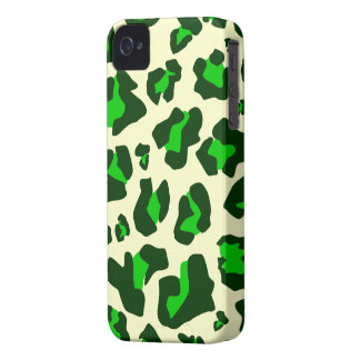 Green/Dark Green Leopard Print - iPhone 4/4s Case