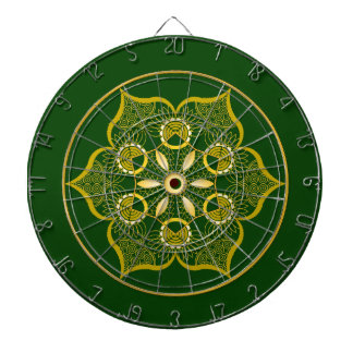Green Dartboard. Dartboard With Darts