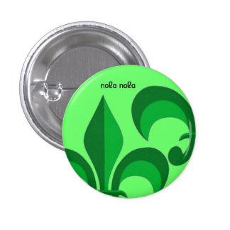 Green De Lis 1 Inch Round Button