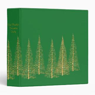 Green December Christmas Scrapbook Album Binder