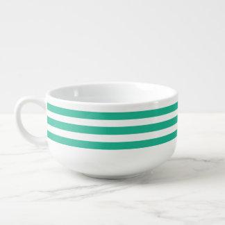 Green Deckchair Stripes Soup Mug