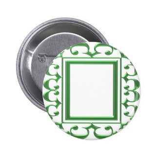 GREEN Decorative Border Think multi uses Button