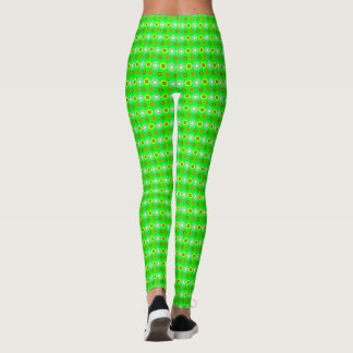 Green Decorative geometric pattern Leggings