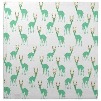 Green Deer Printed Napkin