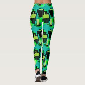 Green design on leggings