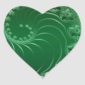 Green Design Party Destiny Celebration Heart Sticker