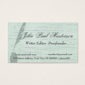 Green Design Writer Journalist Business Card