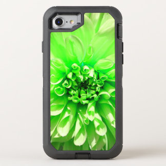 Green Dhalia Flower Otter Box OtterBox Defender iPhone 7 Case