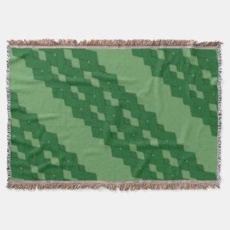 Green Diagonal Zigzag Comfy Throw Blanket