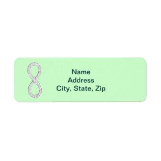 Green Diamond Infinity Wedding Address Labels