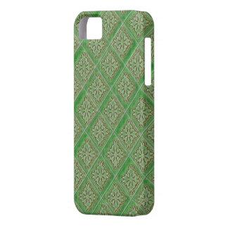 Green Diamond Pattern Damask Iphone 5 Case