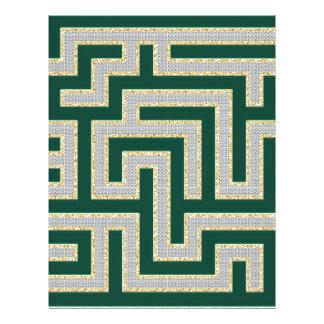 Green Diamonds Maze Pattern Multiple Products sele Personalized Letterhead