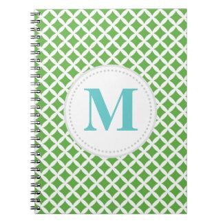 Green Diamonds Spiral Notebook