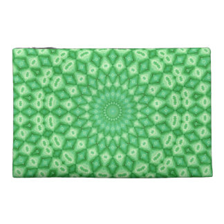 Green Diamonds Travel Accessories Bag