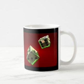 Green dices coffee mug