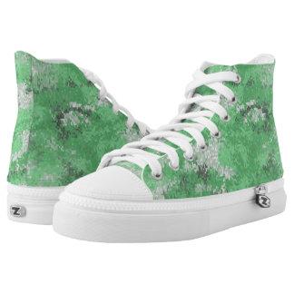 Green Digi Camo High Tops