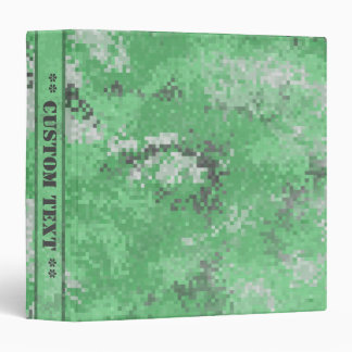 Green Digi Camo w/ Custom Title 3 Ring Binders