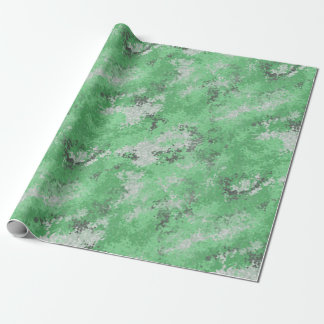 Green Digi Camo Wrapping Paper