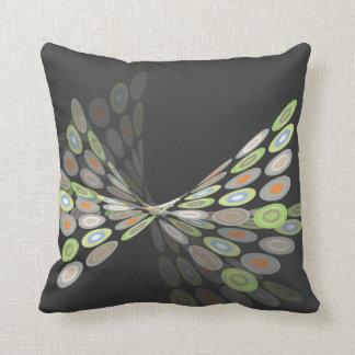 Green Digital Butterfly Graphics Art Pillow Cushio