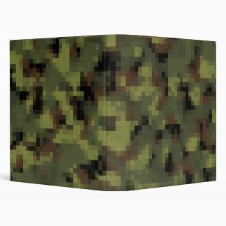 Green Digital Military Camo 3 Ring Binder