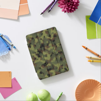 Green Digital Military Camo iPad Mini Cover