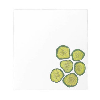 Green Dill Pickles Kosher Pickle Chips Foodie Gift Notepad