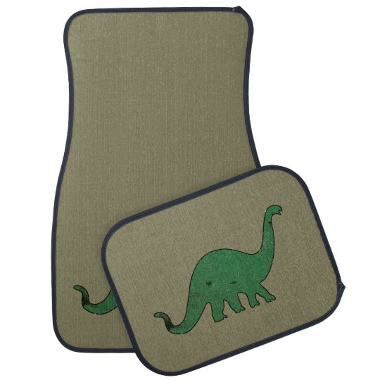 Green Dino distressed Car Floor Carpet