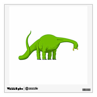 Green Dinosaur Brontosaurus Wall Decal