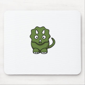 green dinosaur cartoon mouse pad