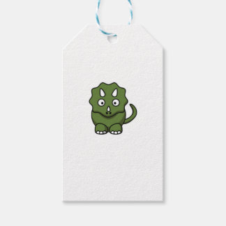 green dinosaur cartoon pack of gift tags