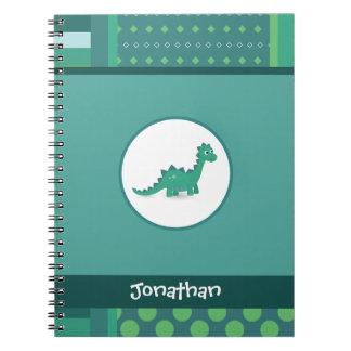 Green dinosaur kids notebook. notebook