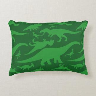 Green Dinosaur Pattern Accent Pillow