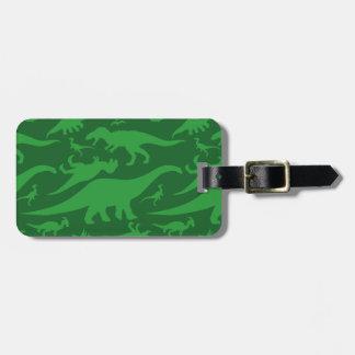Green Dinosaur Pattern Bag Tag
