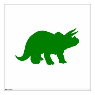 Green Dinosaur Triceratops Wall Decal