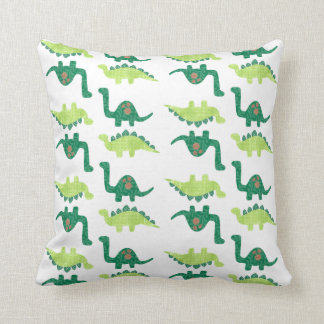 Green Dinosaurs Pillow