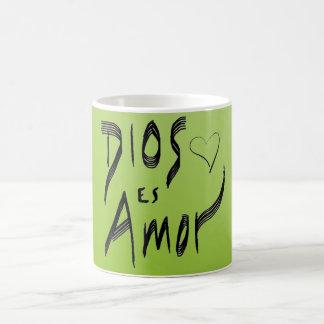 Green Dios Es Amor Spanish Mug