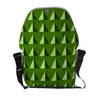 Green Distressed Geometric Pattern Commuter Bag