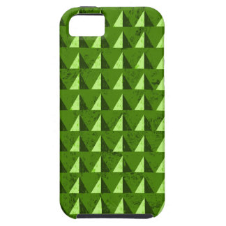 Green Distressed Geometric Pattern iPhone 5 Covers