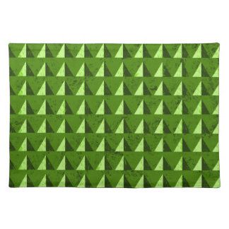 Green Distressed Geometric Pattern Placemat