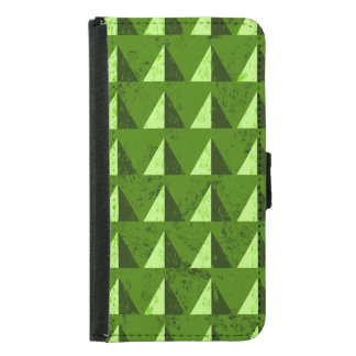 Green Distressed Geometric Pattern Samsung Galaxy S5 Wallet Case